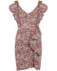 Isabel Marant - Etoile Topaz Paisley Floral Print Dress Ochre - Lyst