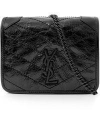 Saint Laurent Niki Small Quilted Bag Black/black