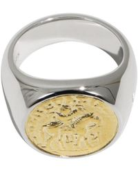 Tom Wood - Alexander The Great Coin Ring Silver/gold - Lyst