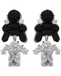 EK Thongprasert - Stepney Drop Earrings Black/white Crystals - Lyst