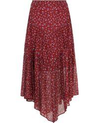 Étoile Isabel Marant Etoile Pabna Printed Midi Skirt Grenat - Red