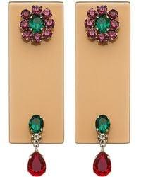 Sylvio Giardina - Perspex Rectangular Drop Earrings Champagne - Lyst