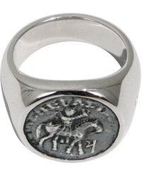 Tom Wood Alexander The Great Coin Ring Silver - Metallic