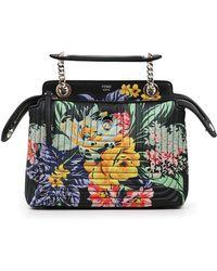 Fendi - Dot Com Floral Print Mini Bag Black/multi - Lyst