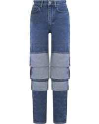 Y. Project Classic Multi-cuff Jeans Navy - Blue