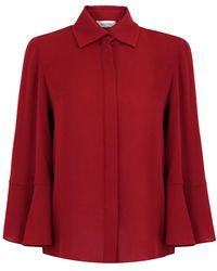 Valentino - Silk Shirt With Flared Sleeves Melogrand - Lyst