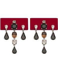 Sylvio Giardina - Perspex Rectangular Drop Earrings Bordeaux - Lyst