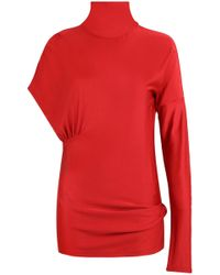CALVIN KLEIN 205W39NYC - Asymmetric Top Red - Lyst