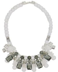 EK Thongprasert - Silicone Five Jewel & Metal Neckpiece White/black Crystals - Lyst