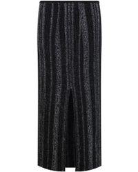 Proenza Schouler - Ottoman Ruffle Knit Skirt Black White - Lyst
