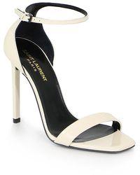 Saint Laurent Amber Sandal 105mm Patent Coquille - Multicolour