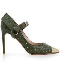 Valentino - Quilted Spike 90mm Heel Oasis - Lyst