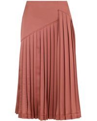 Cedric Charlier Knife Pleated Skirt Pink