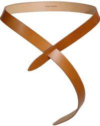 Isabel Marant Lecce Leather Tie Up Belt Natural