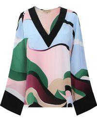 Emilio Pucci - L/s Mirage Print Kimono Top Multicolour - Lyst