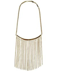 Chloé Delfine Chain Necklace Gold - Metallic