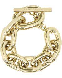 Paco Rabanne Chain Link Chunky Bracelet Gold - Metallic