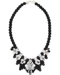 EK Thongprasert   Silicone Seven Jewel Neckpiece Black/white Crystals   Lyst