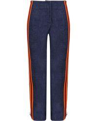 Calvin Klein Side Stripe Zip Pant Denim - Blue