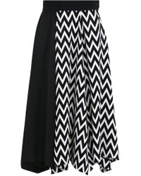 Loewe - Asymmetric Herringbone Skirt - Lyst