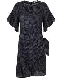 Isabel Marant - Etoile Delicia Wrap Dress Black Ochre - Lyst