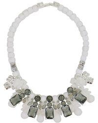 EK Thongprasert | Silicone Five Jewel & Metal Neckpiece White/black Crystals | Lyst