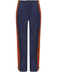 CALVIN KLEIN 205W39NYC Side Stripe Zip Pant Denim - Blue