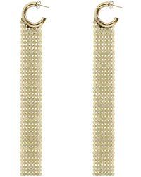 Paco Rabanne Pixel Mesh Hoop Earrings Gold - Metallic