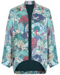 Vilshenko - Vanya Forest Print Jacket Green - Lyst
