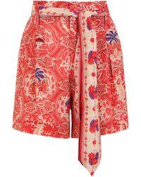 Chufy Nu Tailored Shorts Garma Red