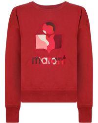 Isabel Marant Etoile Mobyli Sweatshirt Red