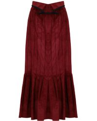 Ellery - Rational Skirt Velvet Cord Rust - Lyst