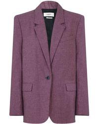 Étoile Isabel Marant Etoile Verix Blazer Rosewood - Purple