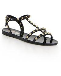 Valentino Garavani Rockstud Sandals - Black