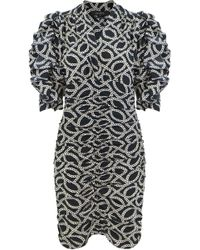 Isabel Marant - Andor Cog-print Crepe Mini Dress - Lyst