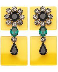 Sylvio Giardina - Perspex Two Piece Drop Earrings Yellow - Lyst