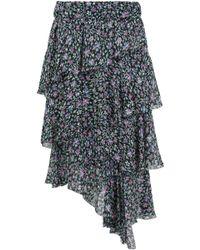 Isabel Marant - Etoile Jeezon Asymmetrical Ruffle Skirt Floral Print Multi - Lyst