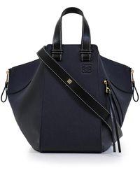 Loewe Hammock Bag Medium Midnight Blue/black