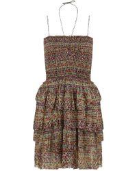 Isabel Marant   Etoile Elma Print Halterneck Dress Multi   Lyst