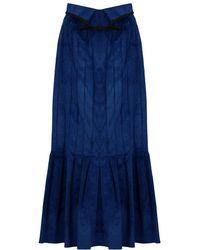 Ellery Rational Skirt Velvet Cord Blue