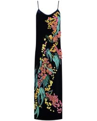 Romance Was Born - Wattle Blossom Gown Navy - Lyst