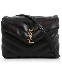 Saint Laurent - Loulou Toy Strap Bag Black/gold - Lyst