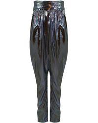 Isabel Marant Kariam Draped Pant Metallic Blue