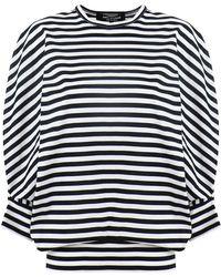 Junya Watanabe - Stripe Oversized Knit Top Black/white - Lyst