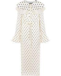 Mother Of Pearl Lennox Bib Dress L/s Ivory/polka Dot - White