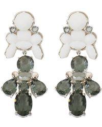 EK Thongprasert - Silicone Drop Earrings White/black Crystals - Lyst