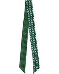 Fendi - Stripy Wrappy Scarf Green - Lyst