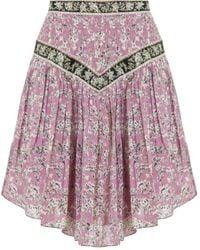 Étoile Isabel Marant Etoile Valerie Mini Skirt Pink