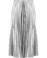 Balenciaga Pleated Kick Skirt Silver - Metallic