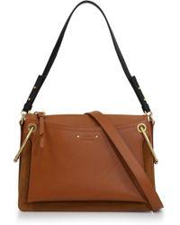 Chloé - Roy Medium Shoulder Bag Caramel/gold - Lyst